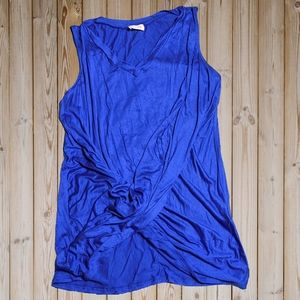 Royal blue twisted detail sleeveless top
